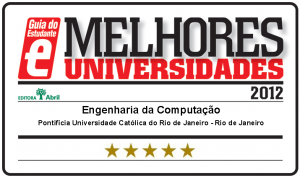 Selo de 5 Estrelas do Guia do Estudante para o Curso de Engenharia de Computao em 2012